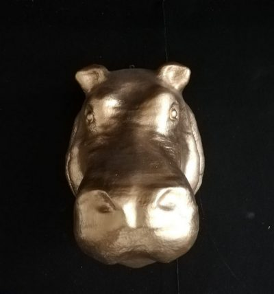 Begemota galva (DZ20) figūru noma. dzīvnieku figūras. dekorāciju noma Hippopotamus head Голова бегемота