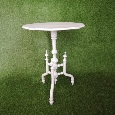Balts galdiņš (GLD62) galdu noma White table (GLD62) Белый стол (GLD62)