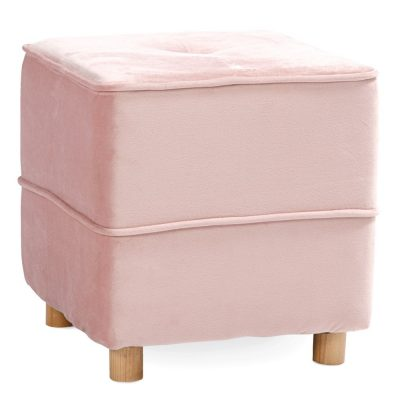 Rozā auduma pufs (PF34) Soft pouf - pink for rent Мягкий пуфик - розовый
