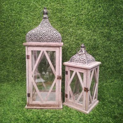 Pelēkas koka sveču laternas (SL23) Серые свечные фонари Gray candle lanterns svečturu noma