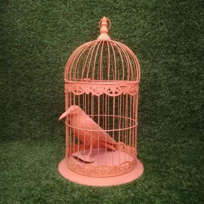 Oranžs metāla putnu būris putnu būru noma Orange Bird Cage Оранжевая клетка для птиц