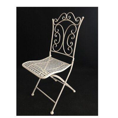 Balts krēsls (KR92) Metal white chairБелый металлический стул