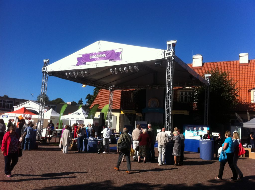 Eurotruss HD34 10x9x7 + stage + сцена skatuves noma