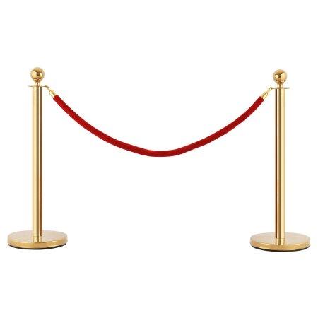 Zelta norobežojošie stabiņi Rope Barrier Барьерная стойка noma stabiņu noma. barjeru noma