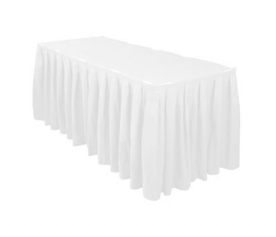 Balti galda svārki 6m Белая фуршетная юбка White table skirt galda svārku noma īre iznomā galda svārkus