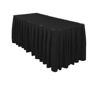 Melni galda svārki 6m Черная фуршетная юбка Black table skirt galda svārku noma