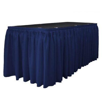 Tumši zili galda svārki 6m Темно-синяя фуршетная юбка Dark blue table skirt
