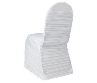 Balts krēsla pārvalks Белый чехол на стул White chair cover krēsla pārvalku noma. krēslu pārvalku īre