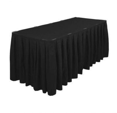 Melni galda svārki 2.5m (TX8) Черная фуршетная юбка Black table skirt