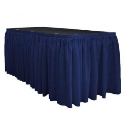 Tumši zili galda svārki 2.5m Темно-синяя фуршетная юбка Dark blue table skirt
