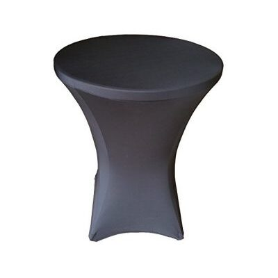 Pelēks elastīgs stāvgalda galdauts - zeķe Эластичная серая скатерть Elastic gray tablecloth galdautu noma. iznomā galdautus