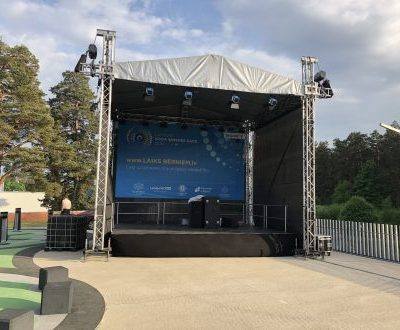 Eurotruss HD34 6x5x6 +stage +сцена skatuve. skatuves noma. iznomā skatuves. skatuves konstrukcija