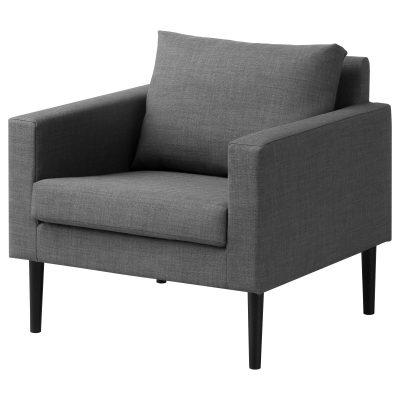 Pelēks atpūtas krēsls (ATKR05) Gray armchair for rent Серое кресло для отдыха