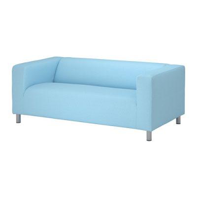 Gaiši zils dīvāns (DV16) dīvānu noma, dīvāna īre Light blue sofa for rent Голубой диван
