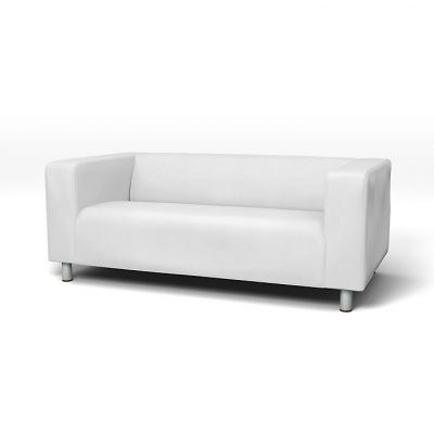 Balts mākslīgās ādas dīvāns noma īre White leather sofa for rent Белый кожаный диван