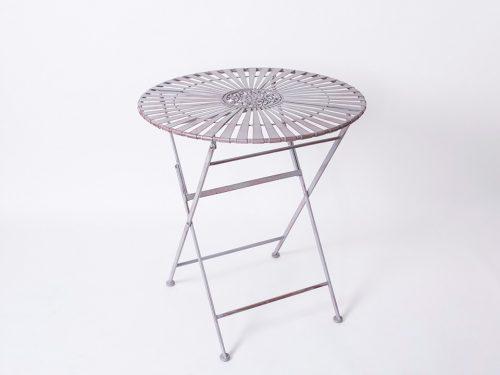 Franču metāla galds Французский металлический стол French metal table vintage stila mēbeļu noma