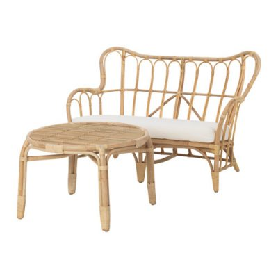 Koka atpūtas dīvāns ar galdiņu Wooden sofa with a table Деревянный диван со столиком