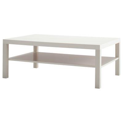 Balts kafijas galdiņš noma īre White coffee table (GLD73) Белый журнальный столик (GLD73)
