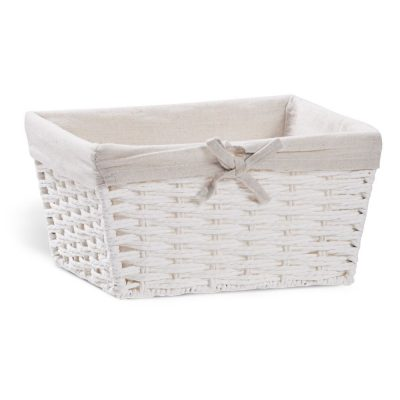 Balts groziņš īre, noma Белая корзина White basket
