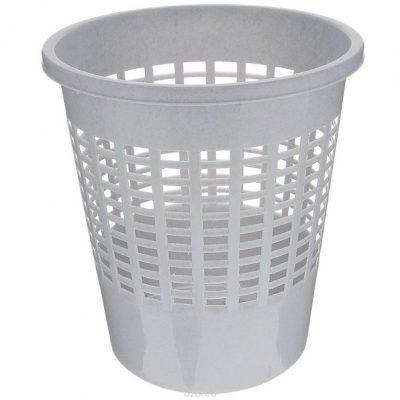 Pelēks papīra grozs noma. Серая корзина для бумаг Gray waste paper basket Atkritumu tvretņu noma