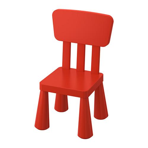 Sarkans bērnu krēsliņš noma, krēslu noma Red baby chair Красный детский стул