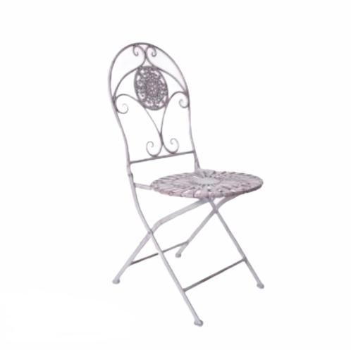 Franču metāla krēsls French metal chair Металлический стул