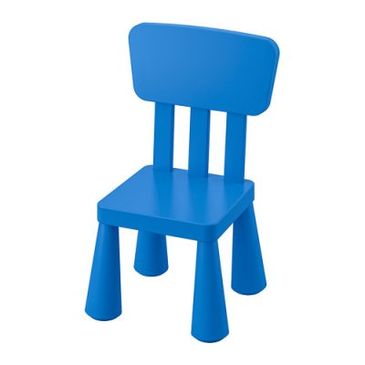 Zils bērnu krēsliņš Blue baby chair Синий детский стул