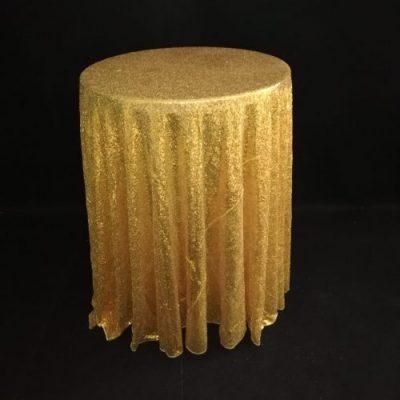 Galdauts ar zelta fliteriem Скатерть с золотыми пайетками Gold sequin tablecloth