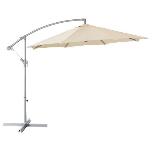 Smilškrāsas saulessargs Бежевый уличный зонт Beige garden parasol saulessargu noma īre