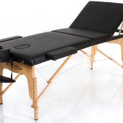 Melns masāžas galds - kušete masāžas galda noma Black Portable Massage Table for rent Складной массажный стол (кушетка)