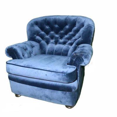 Zils atpūtas krēsls noma Blue armchair for rent Синие кресло для отдыха