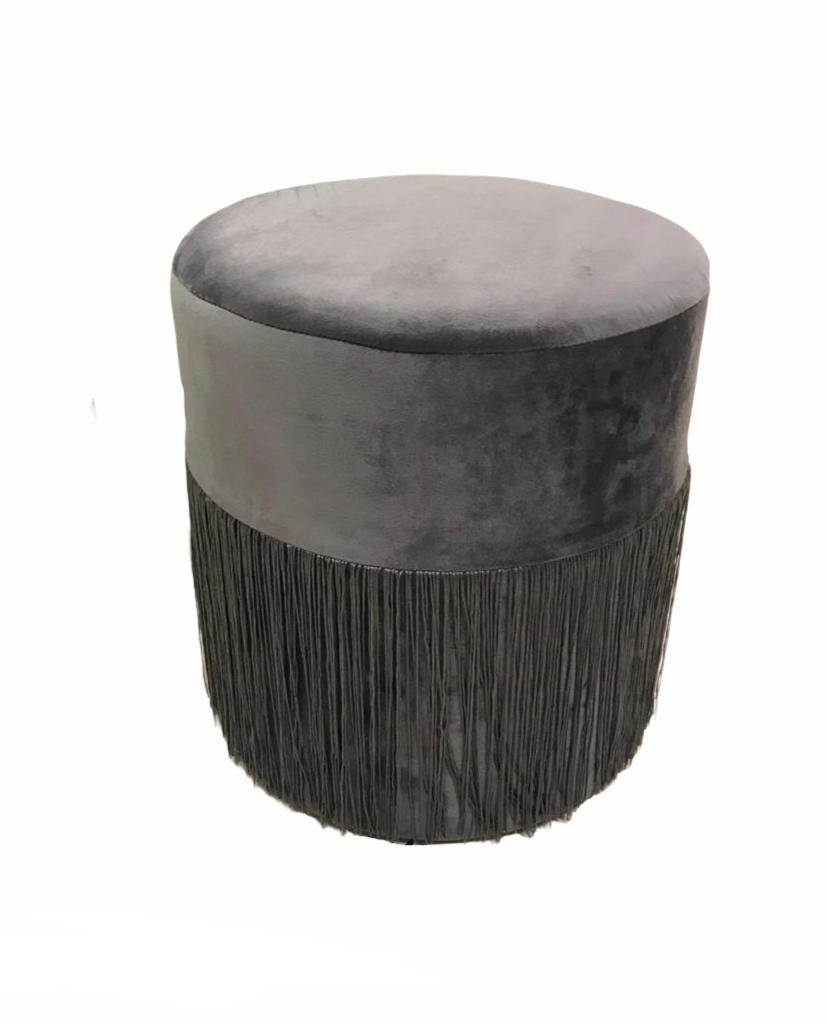 Pelēks auduma pufs Soft pouf - gray Мягкий пуфик - серый