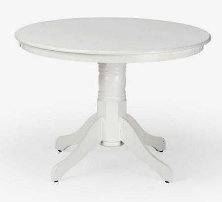 Apaļš balts galds White round table Круглый стол