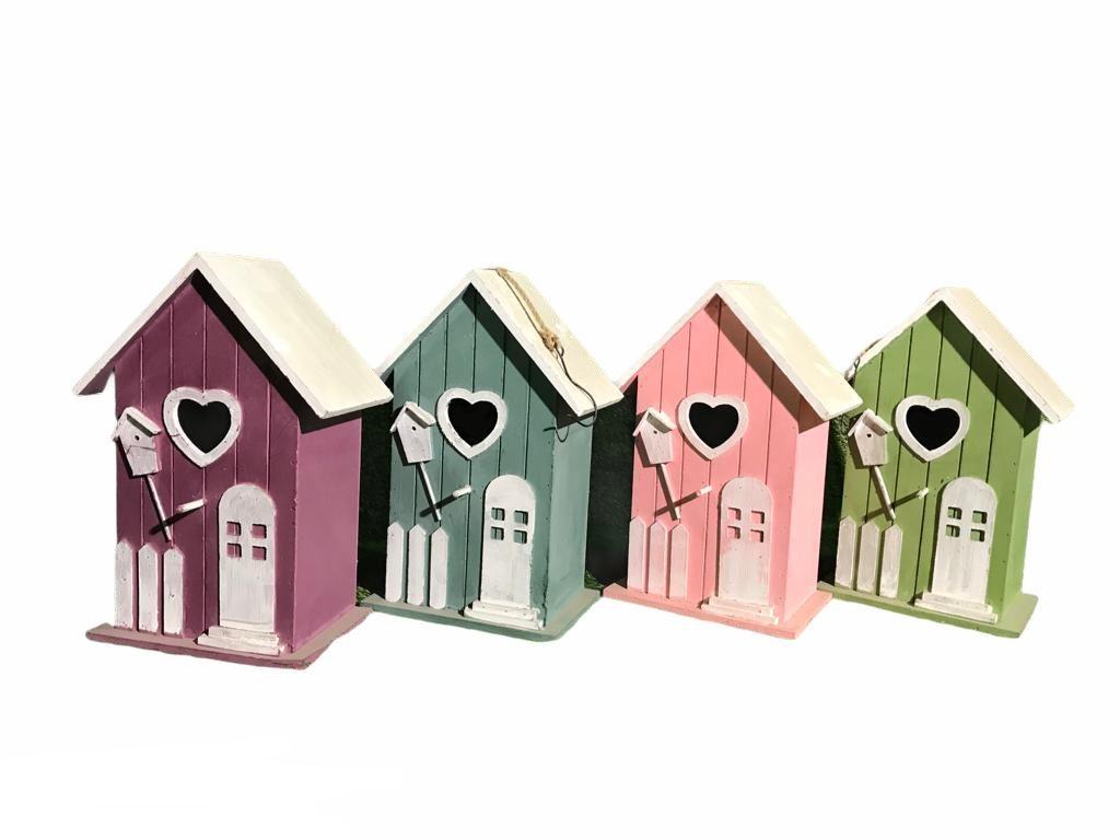 Krāsains koka putnu būris Разноцветные скворечники Colorful birdhouses