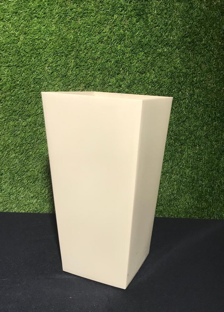 Balts puķu pods h36cm Белый цветочный горшок White flower pot