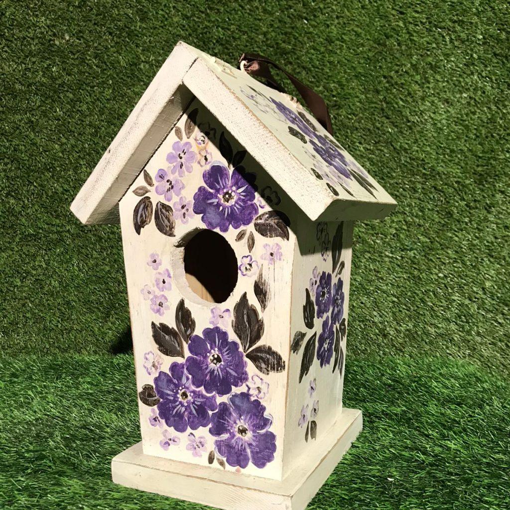 Koka putnu būrītis Деревянный скворечник Wooden birdhouse