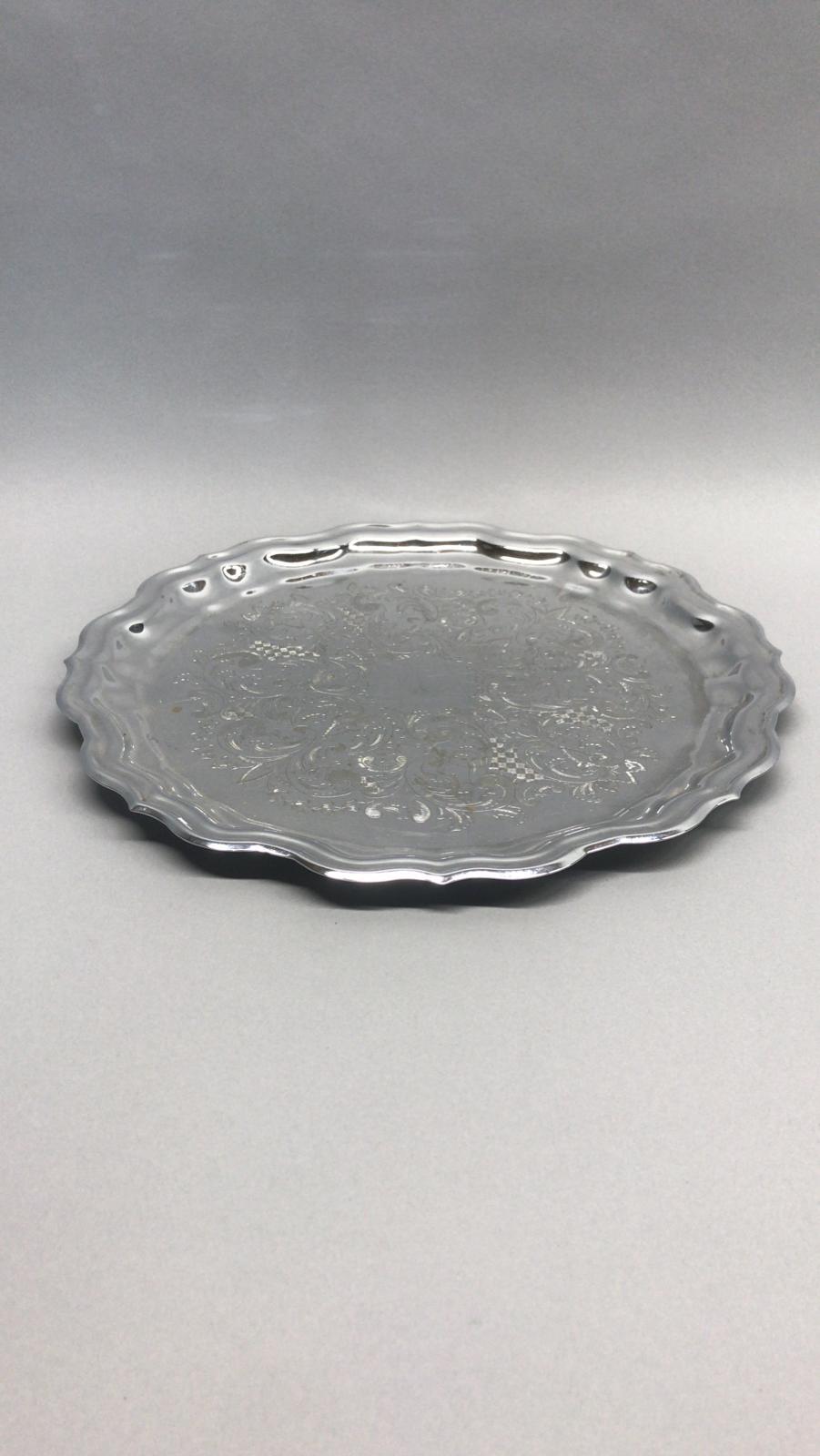 Apaļa sudraba paplāte Круглый серебряный поднос Round silver tray