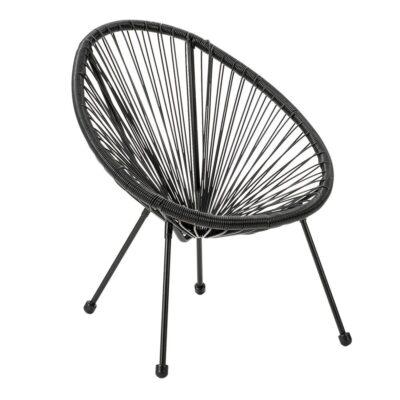 Melns atpūtas krēsls